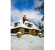 Winter Fairy Tale House Photographic Print