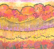 She Laughs At The Future Watercolor Painting by gretchenann