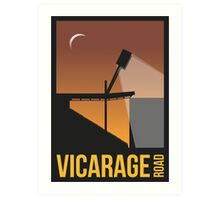 Stadium Art - Vicarage Road Silhouette Art Print