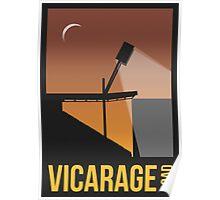 Stadium Art - Vicarage Road Silhouette Poster