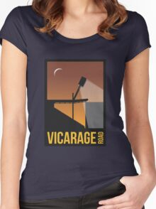 Stadium Art - Vicarage Road Silhouette Women's Fitted Scoop T-Shirt