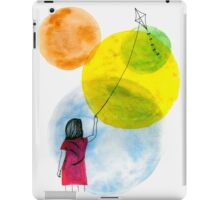 Girl Flying her Kite iPad Case/Skin