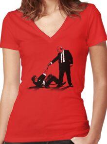 Reservoir Wizards Women's Fitted V-Neck T-Shirt
