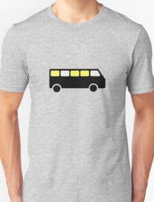 BUS AT NIGHT ROAD SIGN T-Shirt