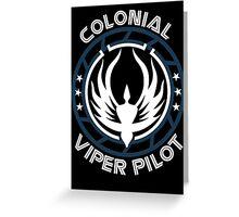 Colonial Viper Pilot Greeting Card