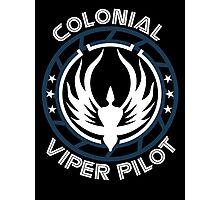 Colonial Viper Pilot Photographic Print
