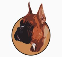 BOXER DOG PORTRAIT  Kids Tee