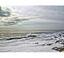 Wintery Coastline Photographic Print