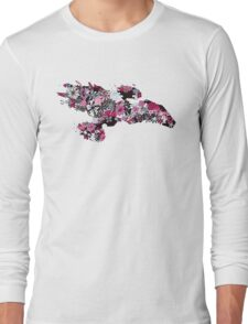 Flowerfly (white variant) Long Sleeve T-Shirt
