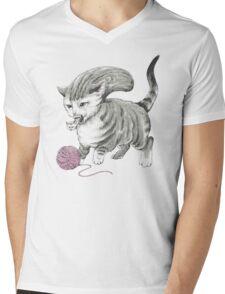 Kittehmorph Mens V-Neck T-Shirt