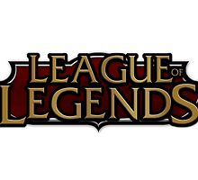 League Of Legends Red Logo  by phenommachine