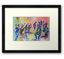 Hatz Fitz and the Red Hot Poker Dots Framed Print