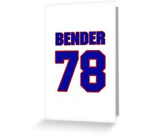 National football player Jacob Bender jersey 78 Greeting Card