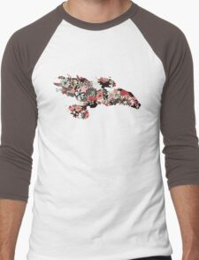 Flowerfly Men's Baseball ¾ T-Shirt