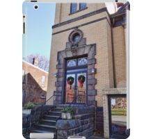 Wreaths on the church door iPad Case/Skin