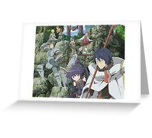 log horizon shiroe guild Greeting Card