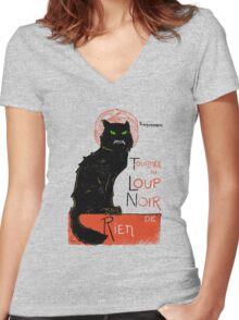 Loup Noir Women's Fitted V-Neck T-Shirt