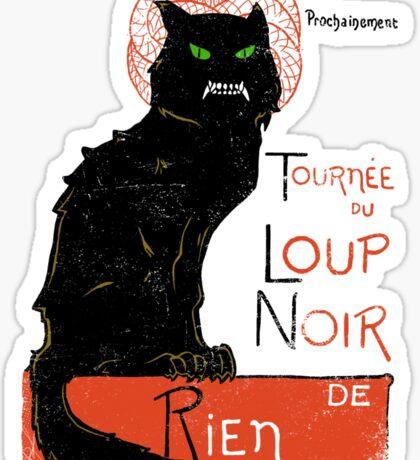 Loup Noir Sticker