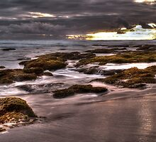 Rocks at Sunset 2 by DavidsArt