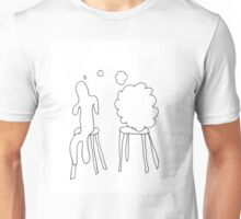 Who is sitting next to me? Unisex T-Shirt