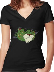 Ceiling Tiger Women's Fitted V-Neck T-Shirt