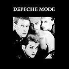 Depeche Mode : Single 81-85 Black - Paint B&W - With name by Luc Lambert