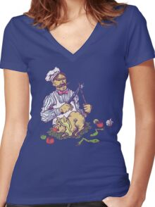 Pork Pork Pork Women's Fitted V-Neck T-Shirt