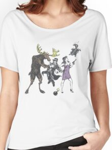 Moose and Squirrel Fight Crime Women's Relaxed Fit T-Shirt