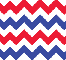 Patriotic Chevron Zigzag Pattern Sticker