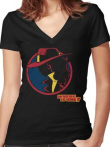 Travel Agent Women's Fitted V-Neck T-Shirt