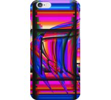 Swimming the Grid in Purple and Blue iPhone Case/Skin