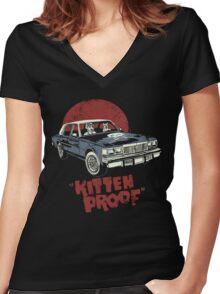 Kitteh Proof Women's Fitted V-Neck T-Shirt