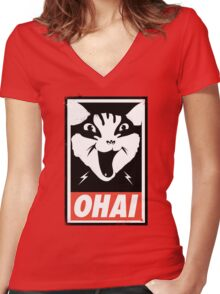 O HAI Women's Fitted V-Neck T-Shirt