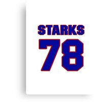 National football player Max Starks jersey 78 Canvas Print