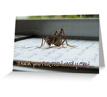 Thank You For The Lovely Card - Weta - NZ Greeting Card