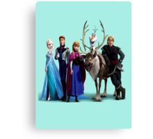 Frozen Characters Canvas Print