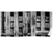 Wooden Pallets Poster