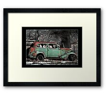 Antique Car - Scipio, Utah Framed Print