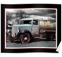 Antique Water Truck Poster