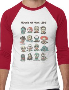 House Of Wax Lips Men's Baseball ¾ T-Shirt