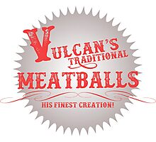 Vulcan's Traditional Meatballs - WHITE Photographic Print