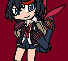 Ryuko and Senketsu by ScribbleSketch