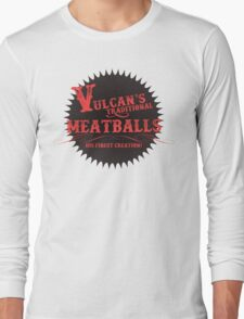 Vulcan's Traditional Meatballs - BLACK Long Sleeve T-Shirt