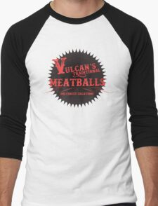 Vulcan's Traditional Meatballs - BLACK Men's Baseball ¾ T-Shirt