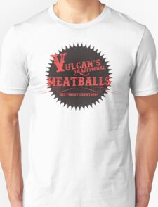 Vulcan's Traditional Meatballs - BLACK Unisex T-Shirt