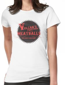 Vulcan's Traditional Meatballs - BLACK Womens Fitted T-Shirt