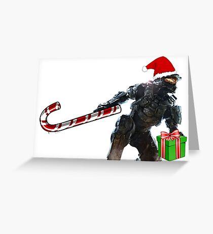 Master Chief Santa Claus Greeting Card