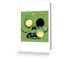 Zombie Face with eye popping out Greeting Card
