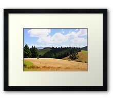 Up The Downs Framed Print