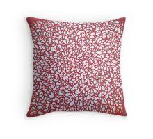 Red Fruit Paper cut Throw Pillow
